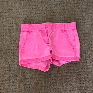 Hot Pink Jcrew Chino Shorts Size 0